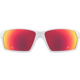 UVEX Sportstyle 225 Sportglasses white mat/mirror red
